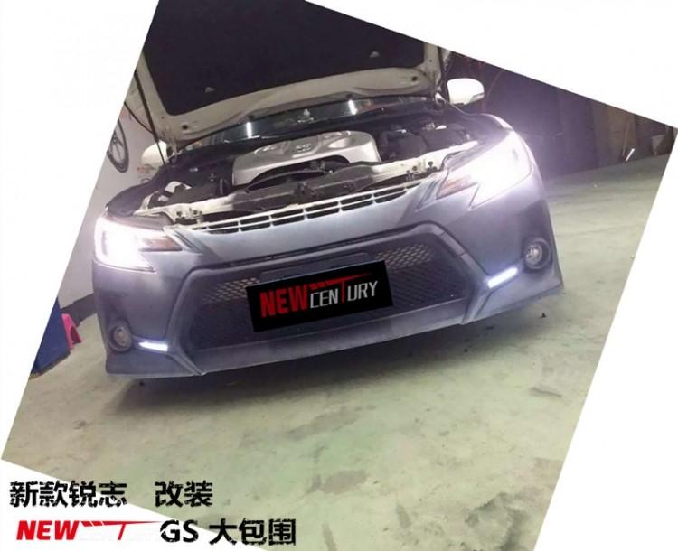 最新款丰田锐志改装gs大包围 前杠后杠pu